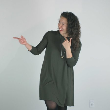 Sarah Liller Katie Dress - Dark Olive