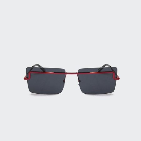 Adam Selman x Le Specs The International Sunglasses - Metallic Red