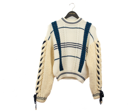Carven Cable Knit Merino Wool/Alpaca Sweater