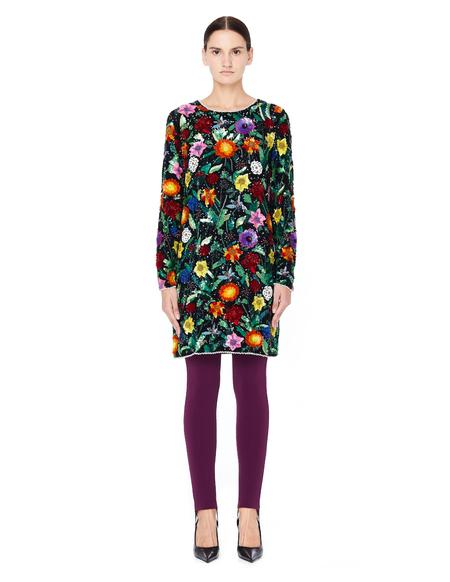 Ashish Silk Sequin Dress - Multicolor