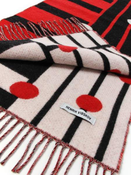 Henrik Vibskov Noteband Scarf - Black/Red