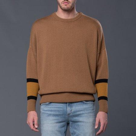 Gustav Von Aschenbach Machine Knit Round Neck Sweater - Beige