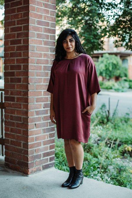 Amanda Moss Tala Dress - Merlot