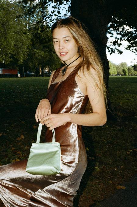 HAI x JOAN Small Silk Bag - Green