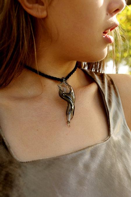 Maryam Nassir Zadeh Glass Conch Necklace