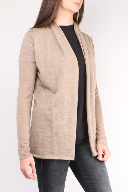 Allude Drapey Open Cardigan - Taupe
