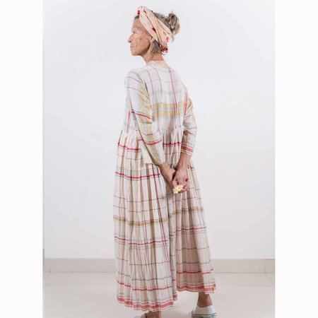 Injiri Handwoven Plaid Dress