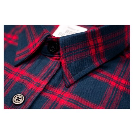 Product of Bob Scales Plaid Work Shirt - Red/Navy