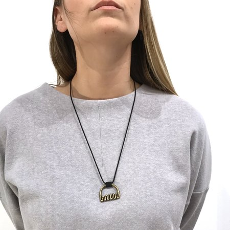Danielle Wright Squiggle Necklace