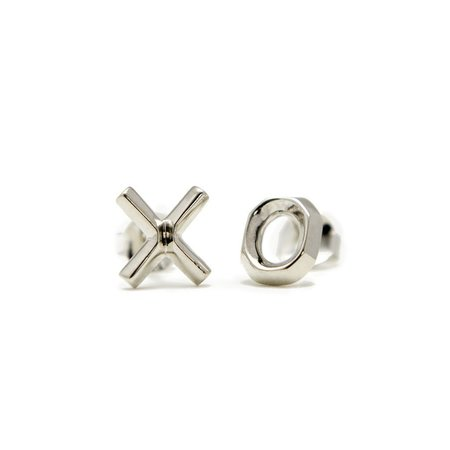 Muizee XO Earrings - Silver