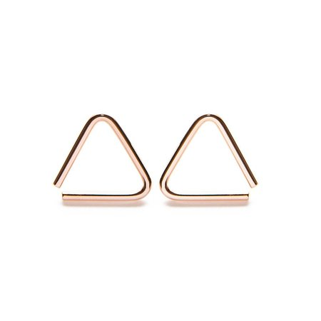 Muizee Triangle Earrings - Rose Gold