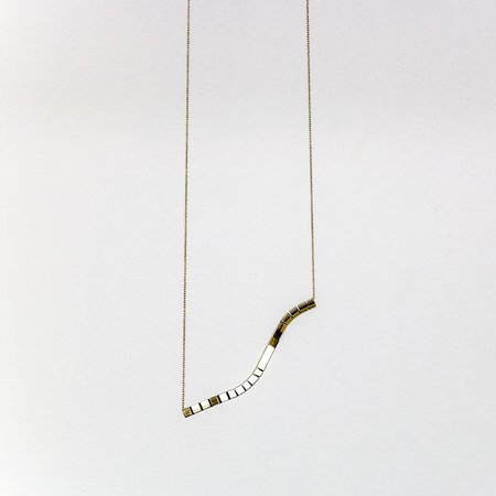 Anara Design Company Lil Swirl Necklace - brass