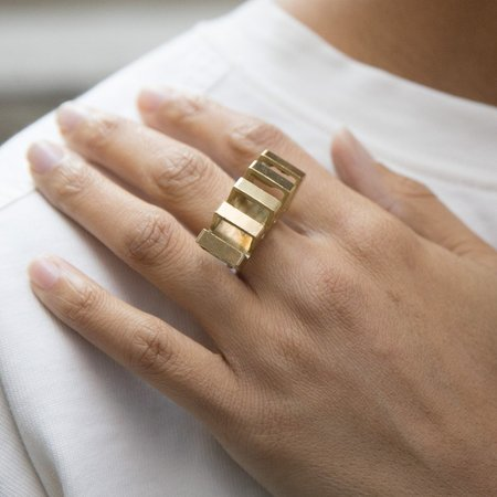 Anara Design Company Penta Ring - brass