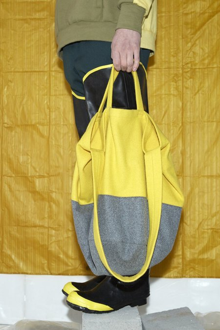 Tom Scott Wool Two-Toned Bag - yellow