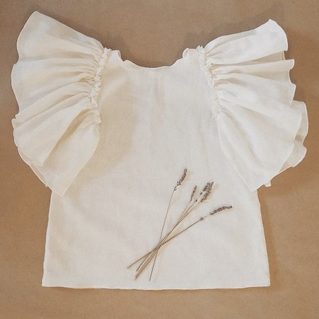 Kids Petit Mioche Blouse Dress With Ruffle Sleeves