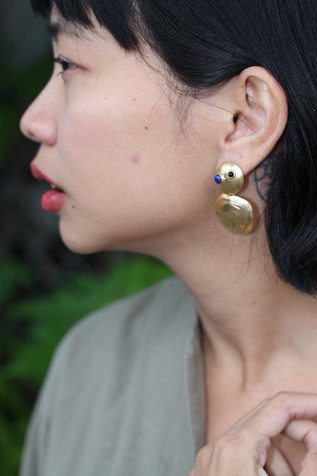 Leigh Miller Turtle Earrings - Brass