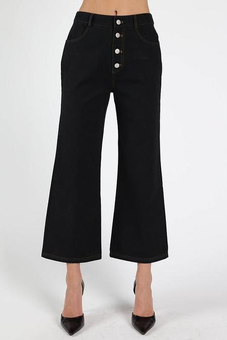 Wild Honey Angeleno Cropped Flare Pant - Black
