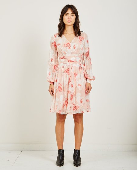 byTiMo SEMI COUTURE BELL SLEEVE DRESS - VINTAGE ROSE