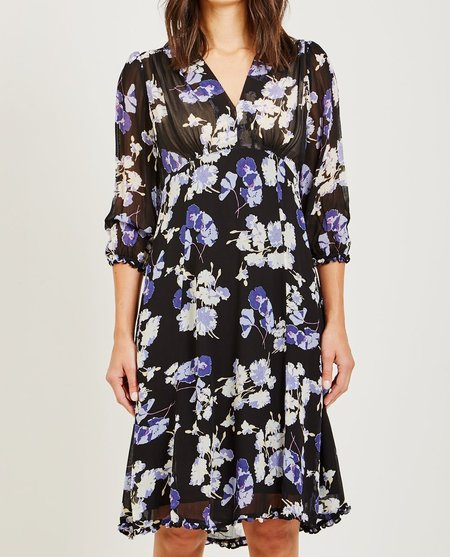 byTiMo SEMI COUTURE DAY DRESS - BLUE POPPIES