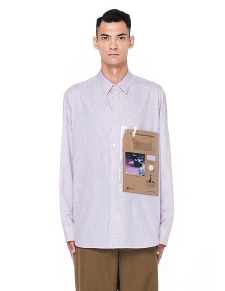 Raf Simons Checked PVC Pocket Shirt
