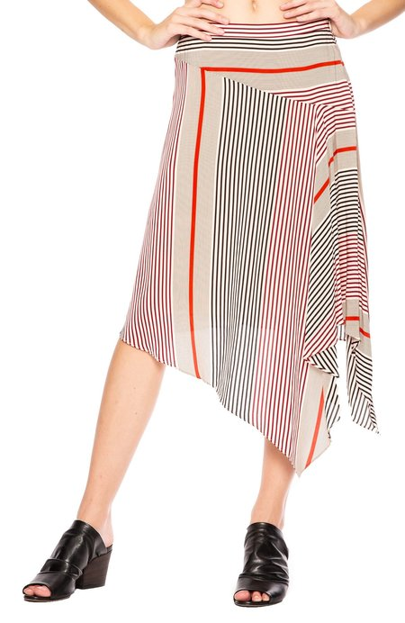 Joie Mani Asymmetrical Skirt - Pink Sky Caviar