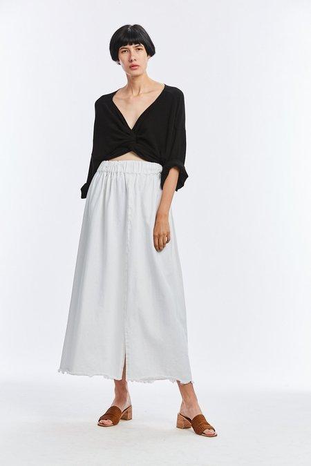 Miranda Bennett Denim Paper Bag Skirt - White