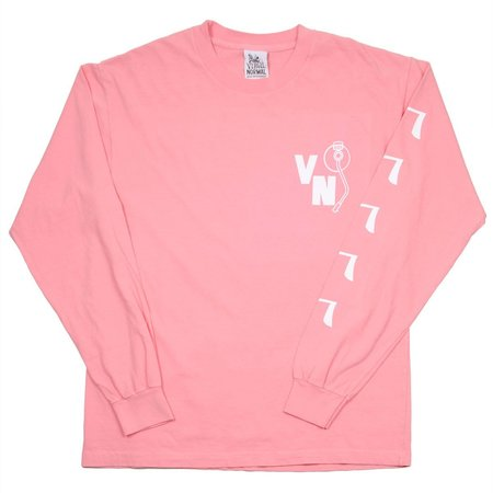 Virgil Normal Hot Dog Mania LS T-shirt - Pink