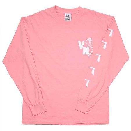 Virgil Normal Hot Dog Mania LS T-shirt - Pink