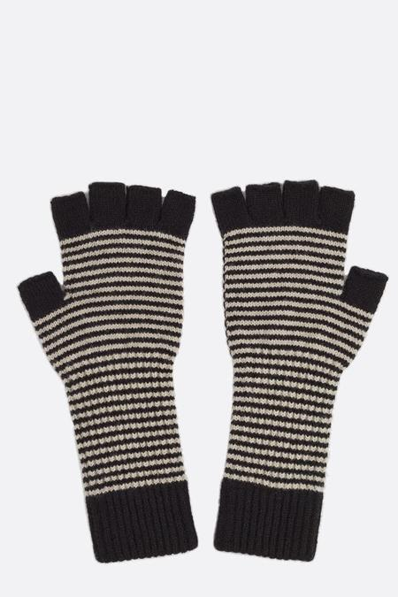 Jo Gordon Fingerless Gloves - Black/Oatmeal