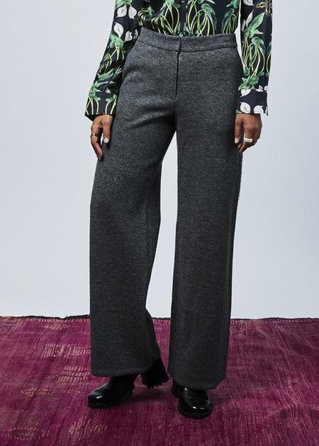 Demoo Ribbed Wool Blend Pant - Gray
