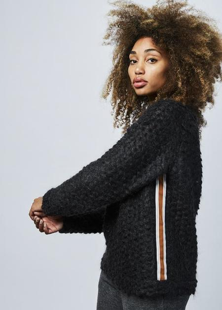 Odeeh Semi Sheer Mohair Sweater - Black