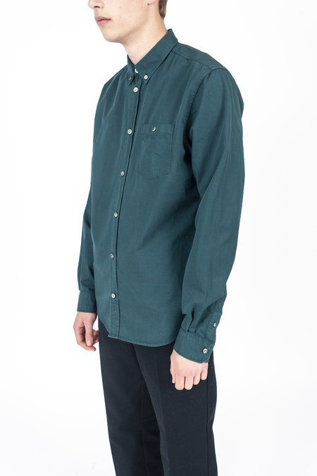 Norse Projects Anton Twill Shirt - Quartz Green
