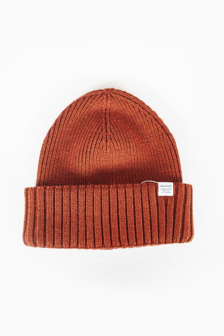 Norse Projects Chunky Rib Beanie - Oxide Orange