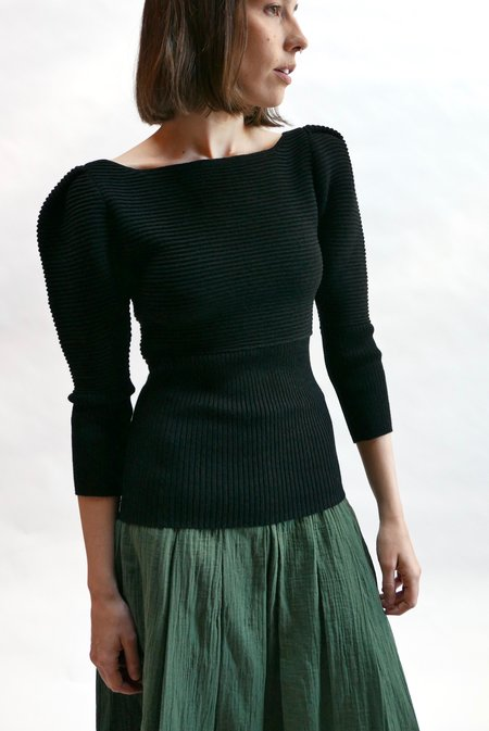 Mara Hoffman Helena Sweater - Black