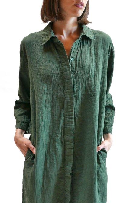 Atelier Delphine Weslyn Long Shirt - Dark Moss