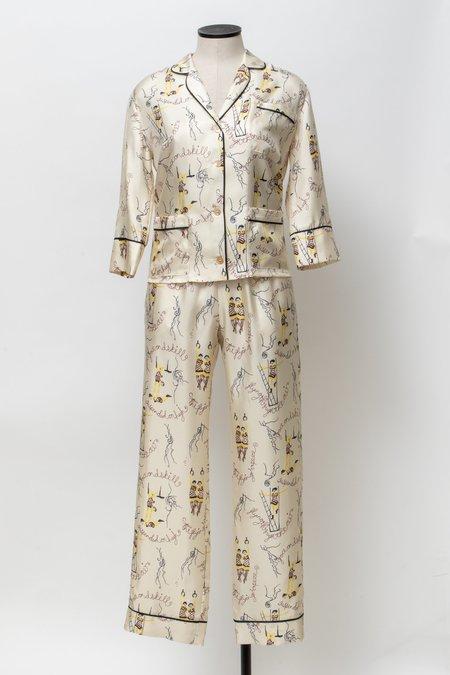 Laura Urbinati Circo Silk Pajama Top