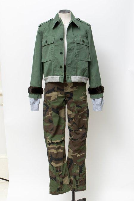 Harvey Faircloth Cropped Bomber - Olive