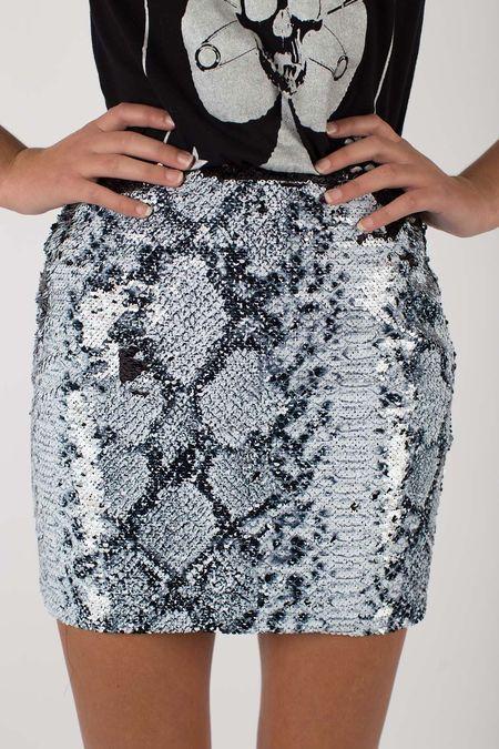 Any Old Iron Sequin Skirt - Whitesnake