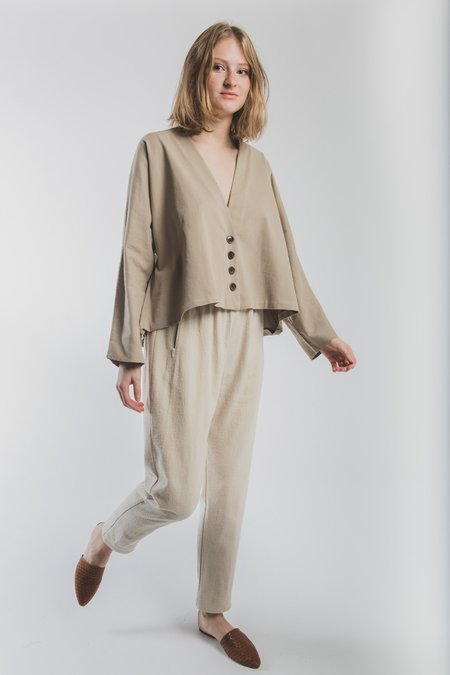 Revisited Matters Alice Wrap Jacket - Taupe