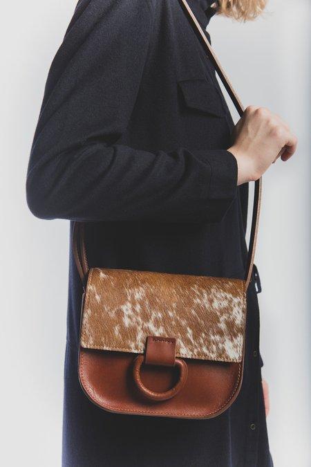 Crescioni Mini Logan Bag - Saddle Brown/Speckled Hair