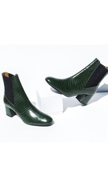 ATP Atelier Altea Printed Croco Boot - Forrest Green
