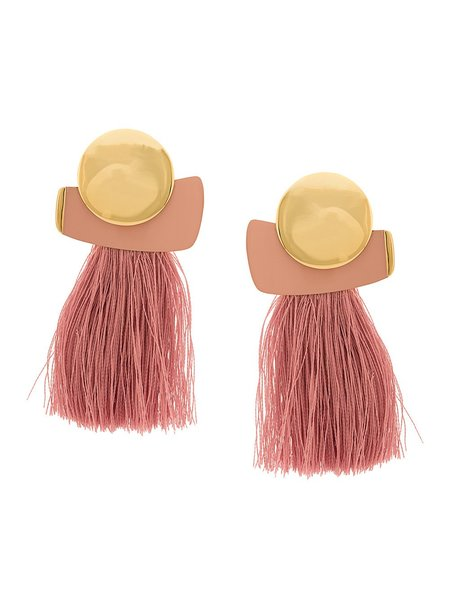Lizzie Fortunato Mulberry Fringe Earrings - Pink