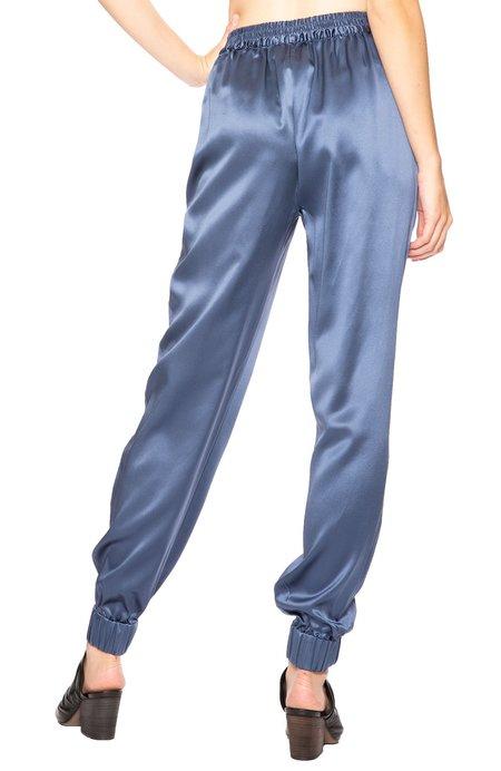 fleur du mal Silk Track Pants - Caspian Blue