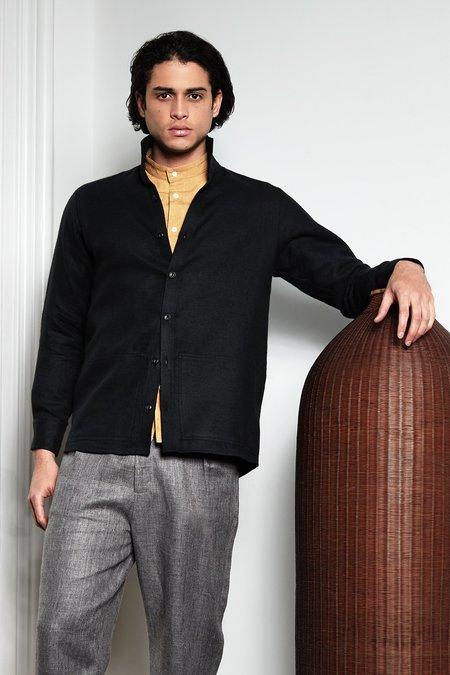 Unisex Blluemade Jacket Shirt - Sumi Black