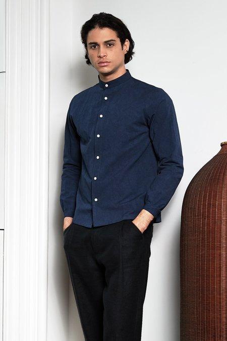 Blluemade Monk Shirt - Deep Blue