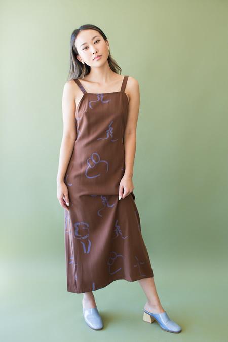 Paloma Wool Lava Dress - BROWN