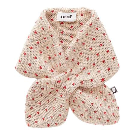 KIDS Oeuf NYC Baby And Child Scarf - Beige With Red Dots