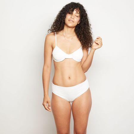 Aila Blue Jasmine Bottoms - White