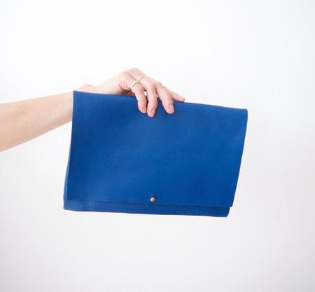 Ara Handbags ARA Fold Over Clutch - Cobalt