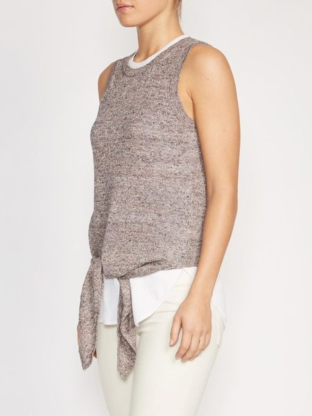 Brochu Walker Loki Layered Tank - Pebble Multi